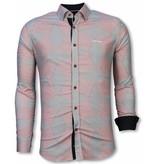 Gentile Bellini Skjortor för män - bomullsskjorta herr - 2047R - Röd