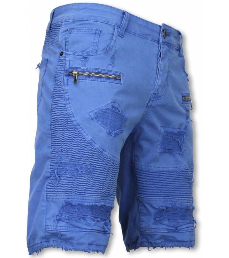 Enos Shorts bomull herr - Chinos kortbyxor man - J-9005B - Blå