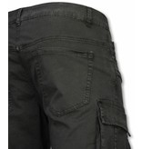Enos Shorts med många fickor - Snygga shorts män - J-9007Z - Svart