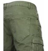 Enos Chinos kortbyxor - Skotskrutiga byxor herr - J-9007Gr - Grön