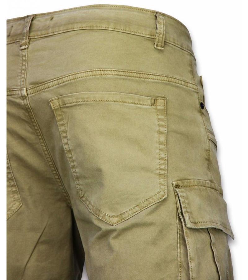 Enos Shorts chinos herr - Billiga shorts för män - J-9007B - Beige
