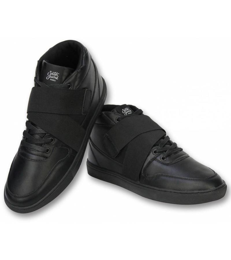 Sixth June Mans Skor - Herr Sneakers Nation Strap - Svart