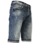 Black Ace Jeans shorts herr online - Snygga shorts män - B077 - Blå