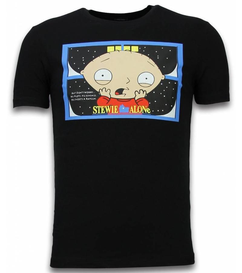Mascherano Stewie Home Alone - Herr t shirt - 6226Z - Svart
