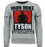 Local Fanatic Mike Tyson Iron Sweater - Tjocktröja Herr - 11-6306G - Grå