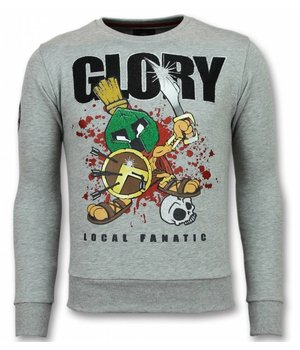 Local Fanatic Glory Trui - Marvin Spartacus Sweater Heren - Grijs