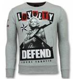 Local Fanatic Loyalty Marilyn Monroe Sweater - Man Tröja - 11-6304G - Grå