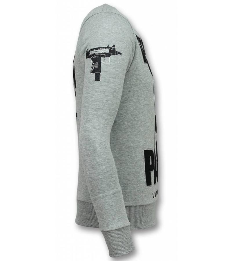 Local Fanatic Terror Panda Sweater - Tröjor Män - 11-6303G - Grå