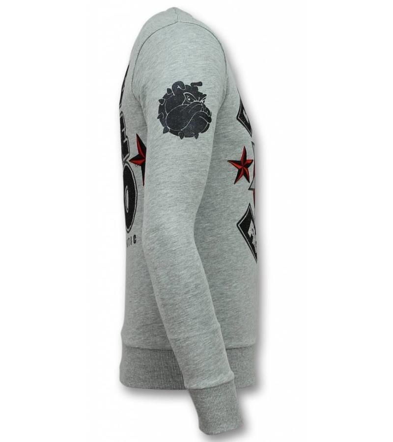 Local Fanatic Fight Club Sweater Bulldog - Herr Tröja - 11-6299G - Grå
