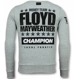 Local Fanatic Rhinestone Mayweather Floyd -Sweatshirt Herr - 11-6297G - Grå