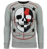 Local Fanatic Skull Tröja God of War - Sweatshirts For Men - 11-6301G - Grå