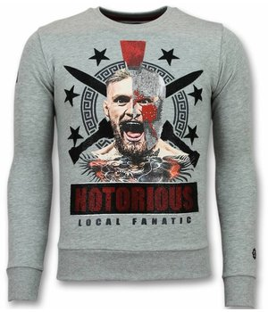Local Fanatic Notorious Trui - Mcgregor Warrior Sweater Heren - Grijs