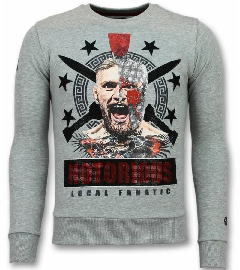 Local Fanatic Notorious Mcgregor Warrior Sweater - Herr Tröjor - 11-6296G - Grå
