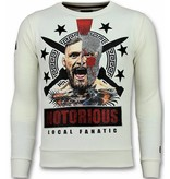 Local Fanatic Notorious Mcgregor Warrior Sweater - Tröjor Herr - 11-6296W - Vit