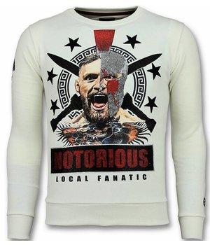 Local Fanatic Notorious Mcgregor Warrior Sweater - Tröjor Herr - 11-6296W - Vit