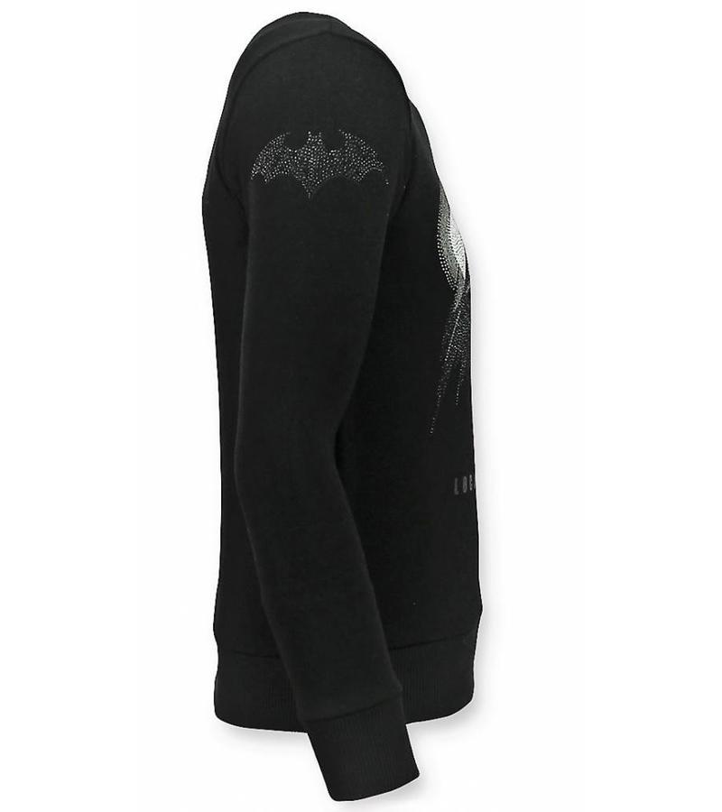 Local Fanatic Rhinestone Batman Tröja - Sweater Herr - 11-6295Z - Svart