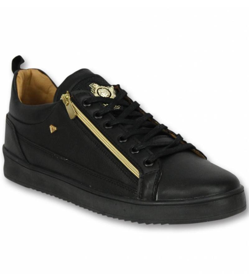 Cash Money Snygga Skor För Killar - Sneaker Bee Black Gold - CMS97 - Svart