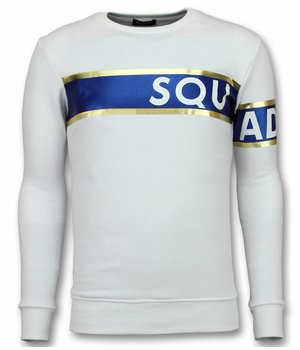 UNIMAN Stripe Color Trui - Squad-93 Sweater Heren - Wit
