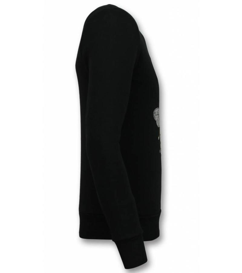 UNIMAN Rhinestone Master Bee Sweater - Tröjor Män - UP-ZS002Z - Svart