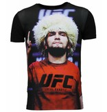 Local Fanatic UFC Campion - Khabib Nurmagomedov T-shirt - Zwart
