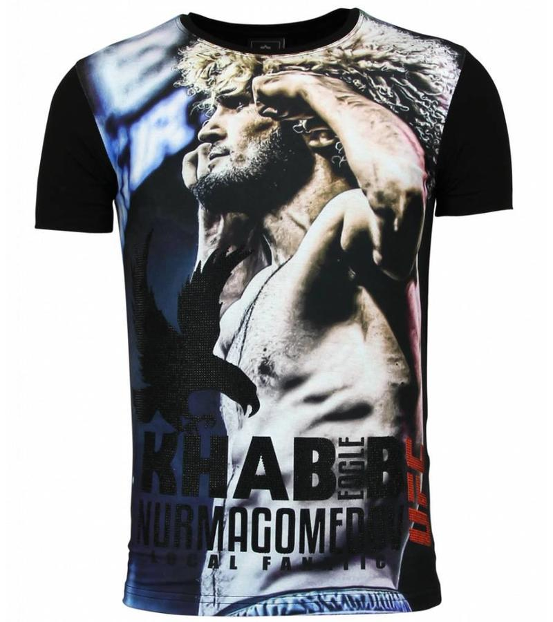 Local Fanatic The Eagle Nurmagomedov - Herr UFC Khabib t shirt - F-568 - Svart