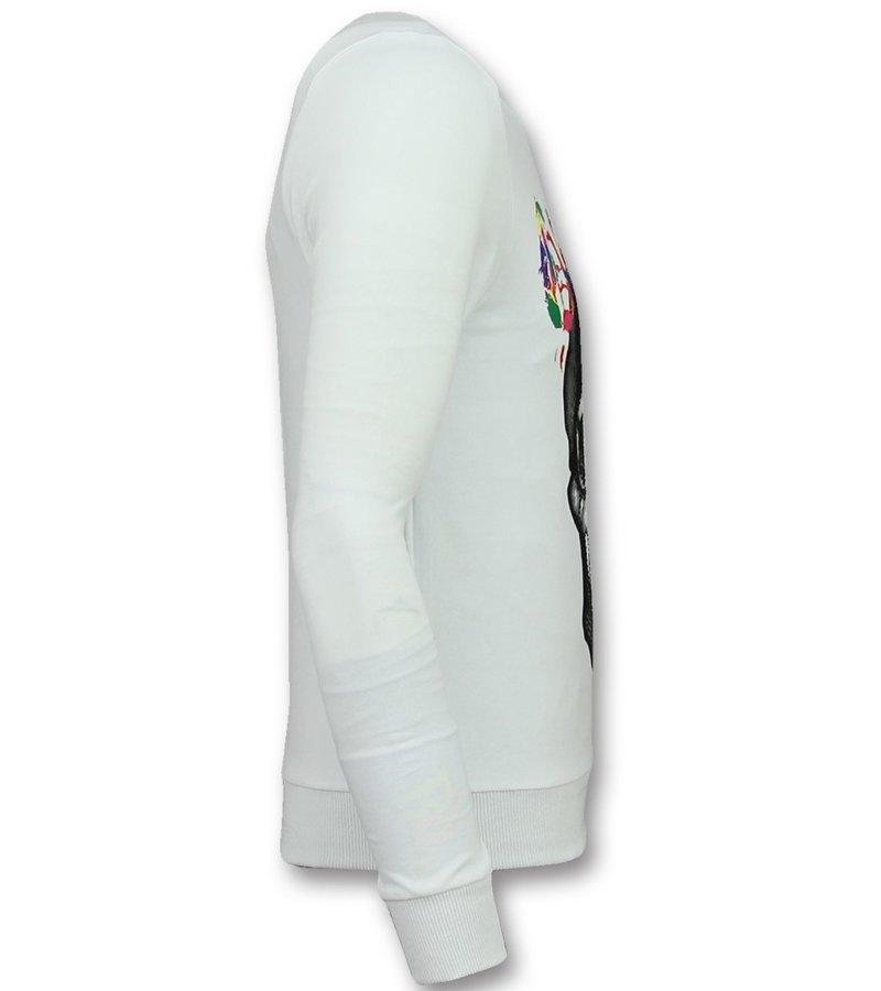 Golden Gate Snygga gymkläder herr - Snygga träningskläder män - F-590W - Vit