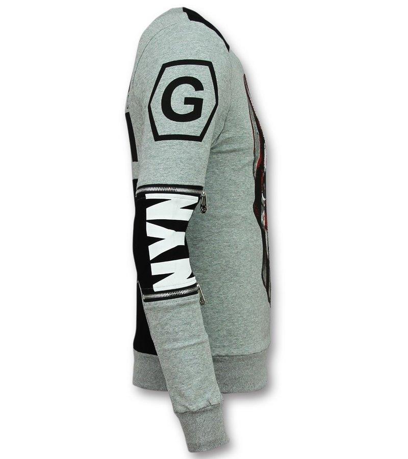 Golden Gate Snygga träningslinnen herr - Träningskläder män gym - F-585G - Grå