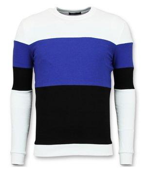 Enos Köp Online Stripe Tröjor - Herr  Sweatshirt - F-7605 - Marinblå