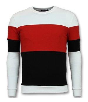 Enos Sweater Mannen - Online Streep Truien Kopen - Rood