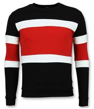 Enos Urringad Tröja Herr - Sweater For Men - F-7662RZ - Röd