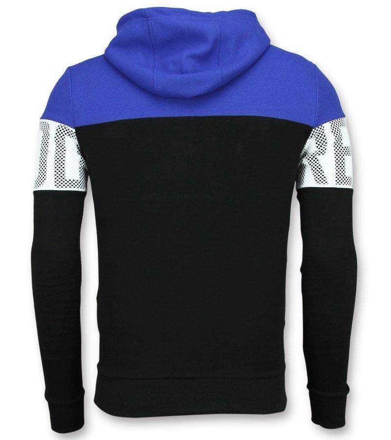 Enos Striped Hooded Sweatshirt - Hoodies Kopen Online - Blauw