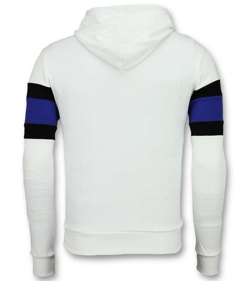 Enos Grå Tjocktröja Herr Destroy - Sweatshirt Man - F-7515 - Vit