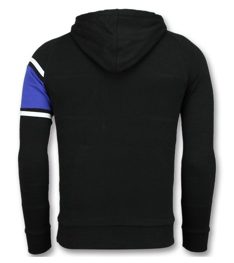 Enos Tröja Med Hoodie - Herr Tröja - F-7516 - Svart / Blå