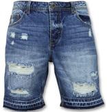 Enos Korte Spijkerbroek Mannen - Shorts Heren Sale - J965 - Blauw
