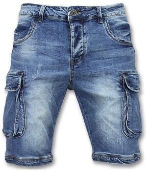Enos Korte Spijkerbroek Mannen - Shorts Heren Spijker - J981 - Blauw