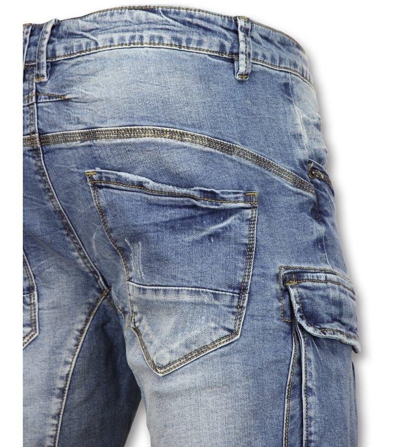 Enos Korte Spijkerbroek Mannen -Shorts Heren Spijker - J981 - Blauw
