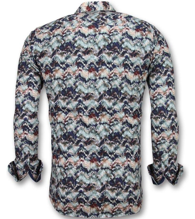 Gentile Bellini Billiga skjortor för män - Skjortor till herr - 3008 - Blå