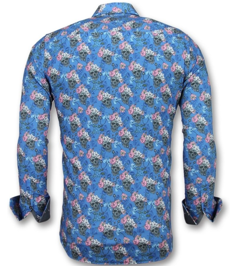 Gentile Bellini Skjortor till män - italienska skjortor online - 3014 -Blå