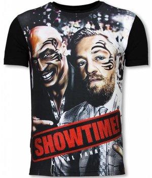 Local Fanatic Showtime - Digital Rhinestone T-shirt - Zwart