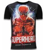 Local Fanatic Superhero  Spiderman Rhinestone - Herr t shirt - 11-6276Z - Svart