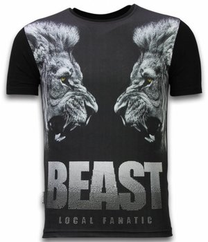 Local Fanatic Beast  Digital Rhinestone - Man t shirt - 11-6274Z - Svart