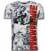 Local Fanatic Muhammad Photocollage Rhinestone - Man t shirt - 11-6268W - Vit