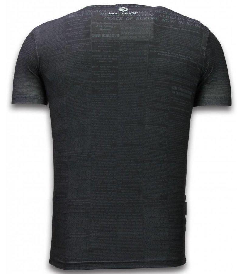 Local Fanatic Captain Superhero Rhineston - Herr t shirt - 11-6266Z - Svart