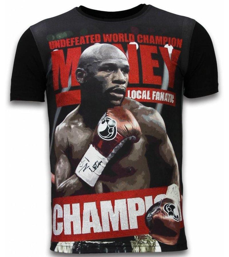 Local Fanatic Money Champion Rhinestone - Man t shirt - 11-6263Z - Svart