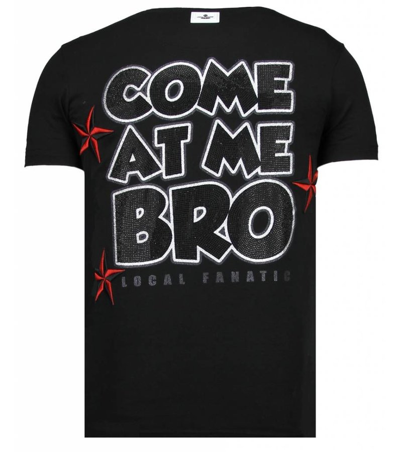 Local Fanatic Fight Club Spike Rhinestone - Herr T shirt - 13-6230Z - Svart