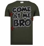 Local Fanatic Fight Club Spike Rhinestone - T shirt Herr - 13-6230K - Khaki