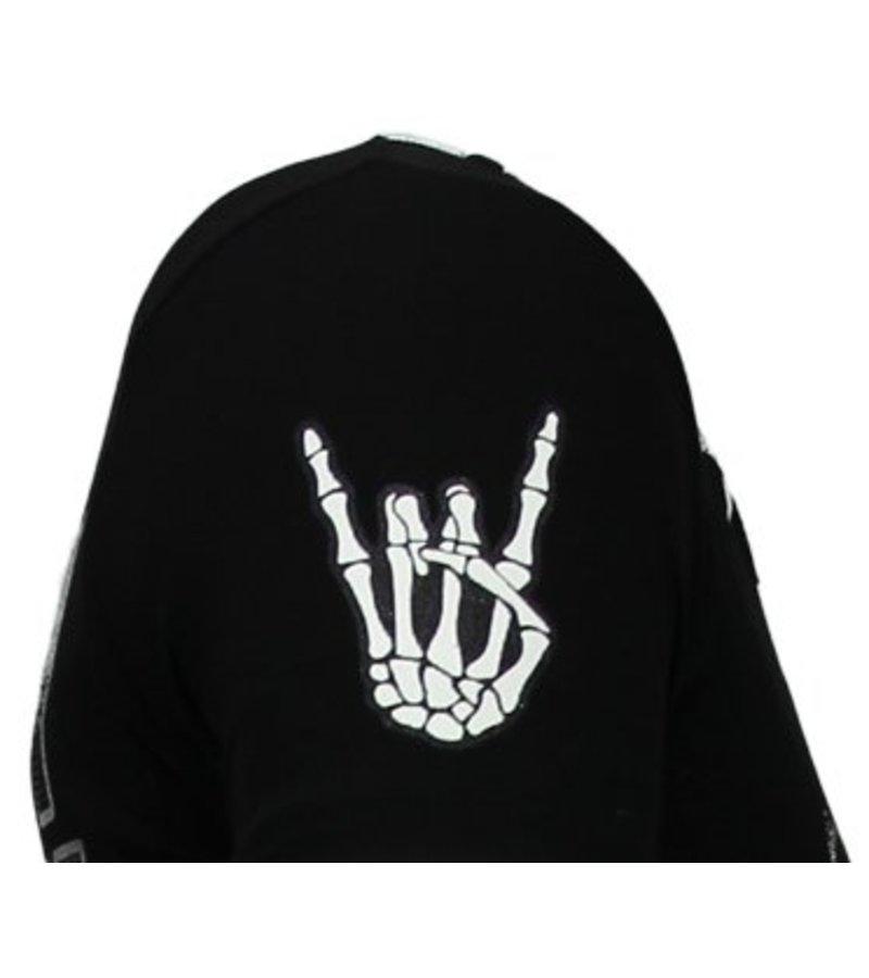 Local Fanatic Hellboy Rhinestone - Herr T Shirt - 13-6226Z - Svart