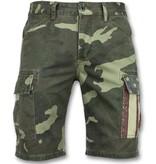 Enos Camouflage kortbyxor - Snygga shorts män - J-9017 - Grön
