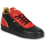 Cash Money Herrskor Sneakers - Luxury Black Red - CMS72 - Röd