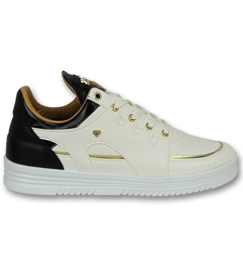 Cash Money Märkesskor Online - Stiliga Skor Luxury White Black - CMS71 - Vit